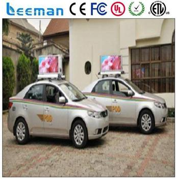 Outdoor P10 Led Screen Factory Directly Sales Full Magnet Car Roof Signs  Taxi Top Advertising Light