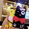 Cut Cartoon 3D Korea Cat Kitty Pet Phone Case for iPhone 6 6s Plus 7 7 Plus Soft Silicone Back Cover Shockproof Coque Funda Capa