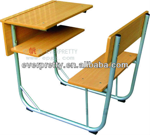 China Supplier Connected School Desk Chair Table With Chairs ...
