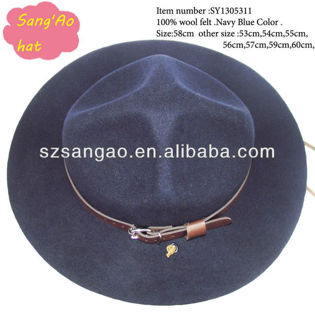wholesale Navy blue kids cowboy hat fedora new style in summer