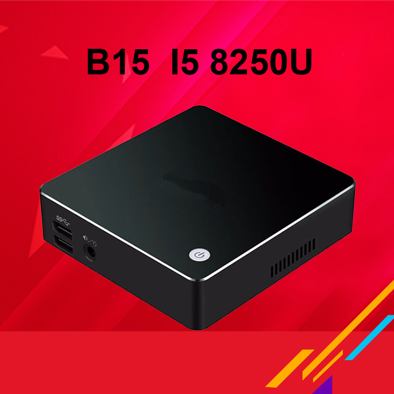 B15  Intel Core  i7 8650u  Win.10 Mini PC Desktop Computer  4K Support DDR4 RAM M.2 SSD Black 16G RAM 128G SSD