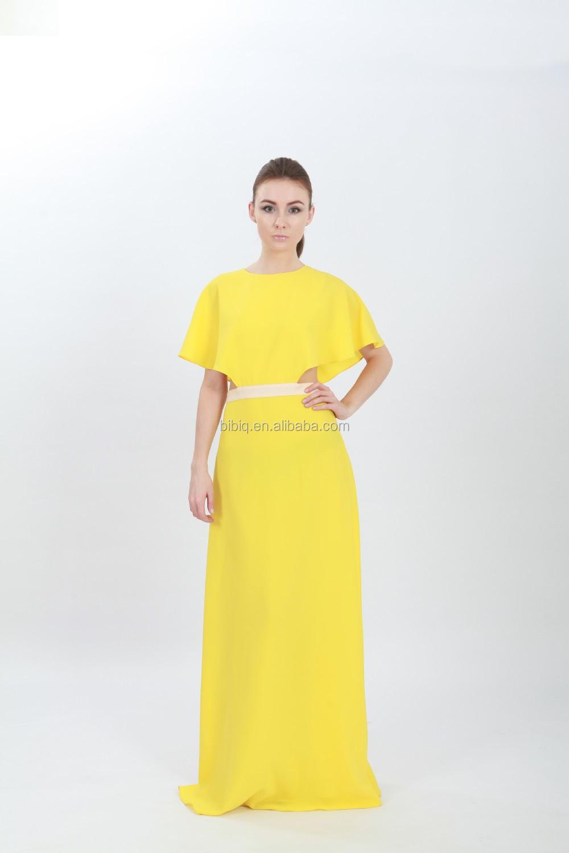 Nova moda da luva do tampo amarelo longa noite das mulheres nova moda da luva do tampo amarelo longa noite das mulheres vestidos thecheapjerseys Choice Image
