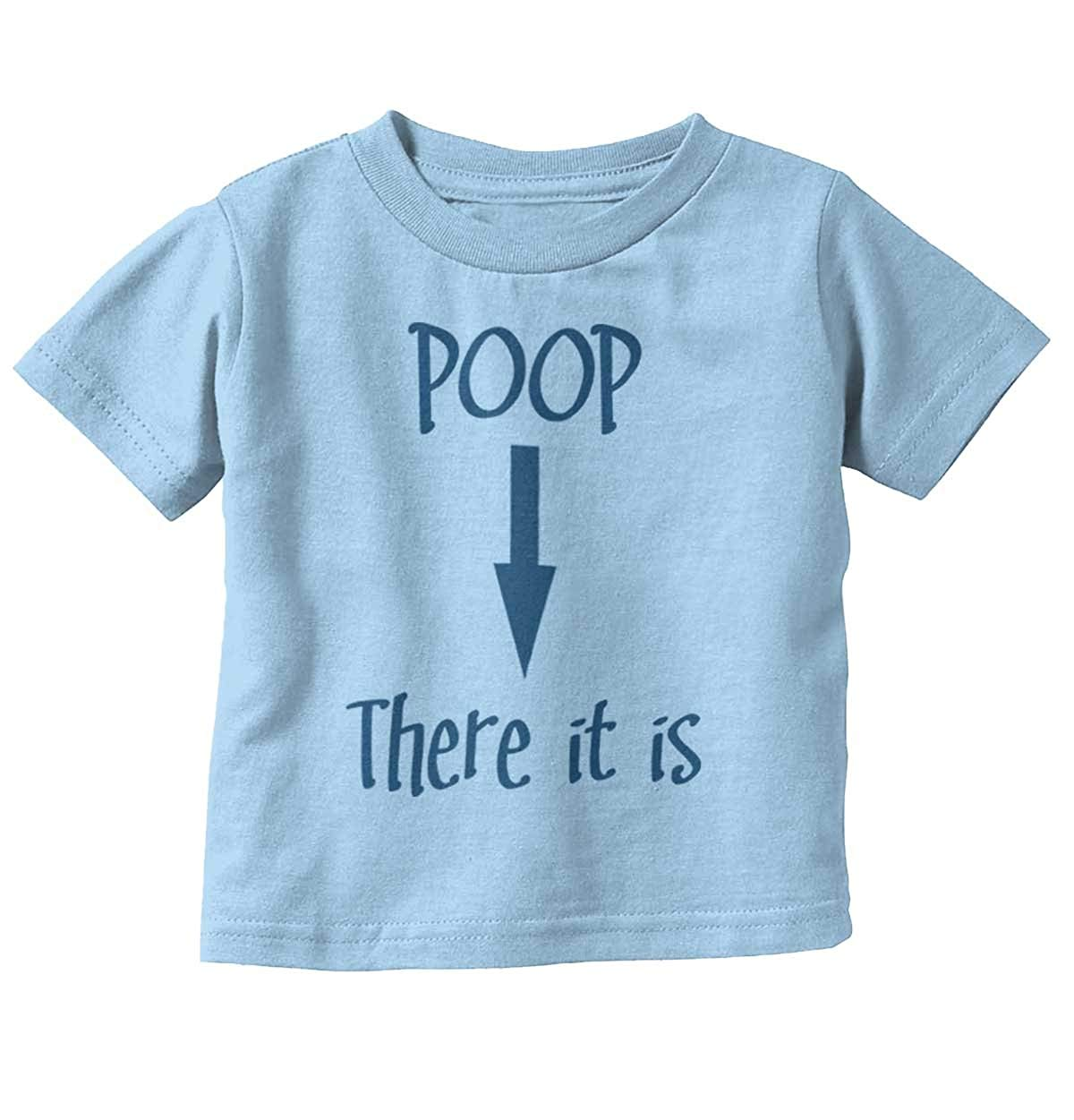 1540b3707 Get Quotations · Brisco Brands Poop There It is Song Funny Quote Ironic  Cute Newborn Baby Infant Toddler T