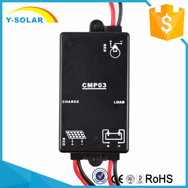 Y-SOLAR 3a 12v li-ion solar water level charge controller for solar home system