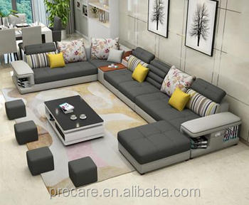 The Large-sized Apartment Sofa Simple Modern U Type Sofa Factory ...