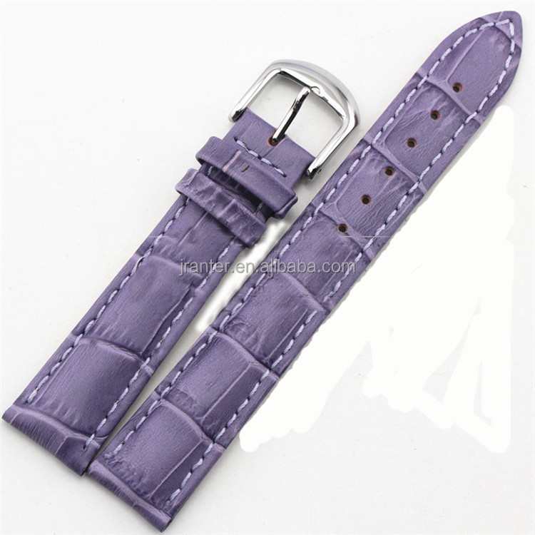 Jranter custom hot new product handmade women genuine crocodile leather watch band strap