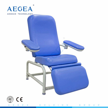 AG-XS105 Hospital furniture patient transfusion therapy used manual blood donor chair