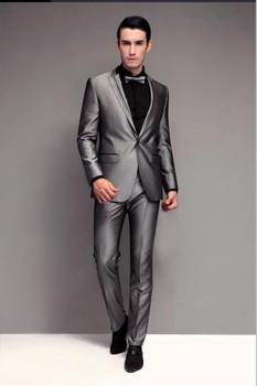 Clic Grey Wedding Suit Mtm Bcs072
