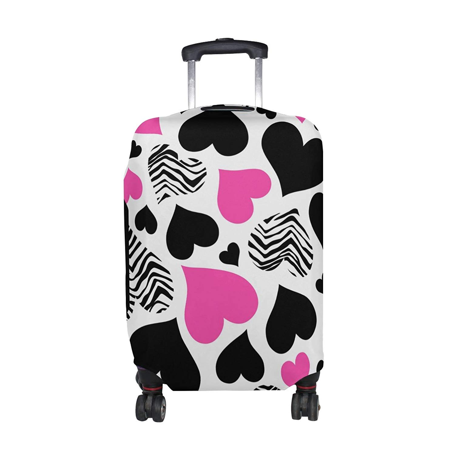 OREZI 3D Trendy Black And White Luggage Protector Suitcase Cover 18-32 Inch