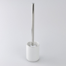 New Arrival White Round Ceramic Toilet Brush Set