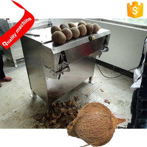 coconut Hard skin peeler dehusker cracker machine