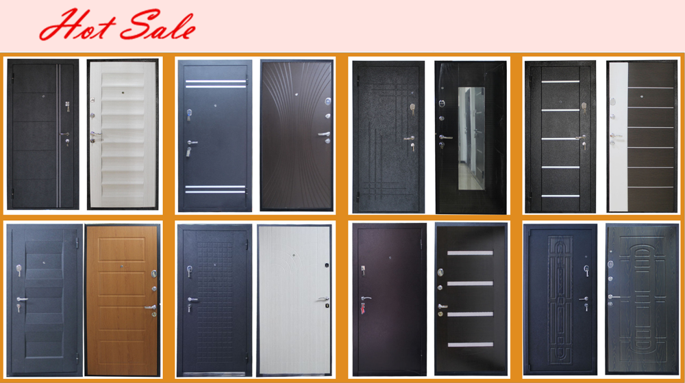 New design Bullet Proof machine making exterior steel wooden armored door