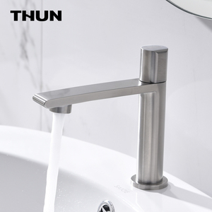 Top selling cold water bathroom faucet 304 stainless steel cold water basin faucet taps