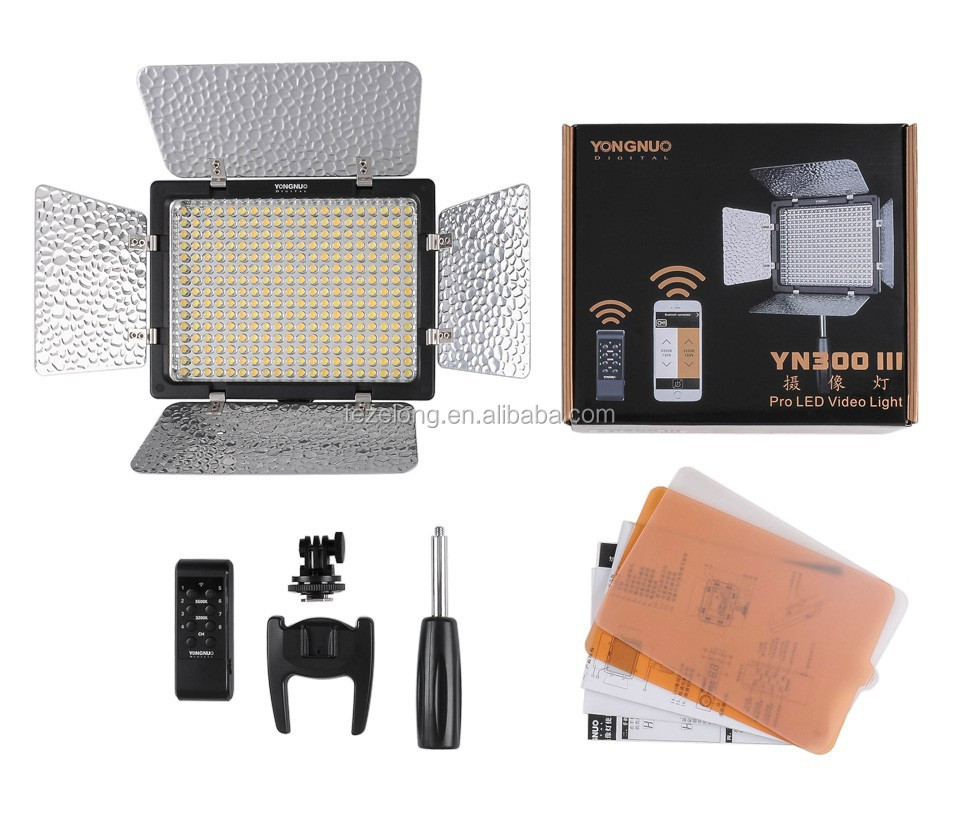 300 led photography camera light 3200-5500k for Photo studio DSLR camera camcorder yn-300 III YONGNUO YN300 III LED video light