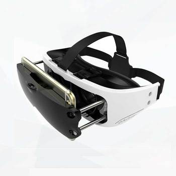 d9a9487fdbf Fashion slim VR Google Virtual Reality Goggles VR Headset 3D Video Glasses  Box Helmet Cardboard for