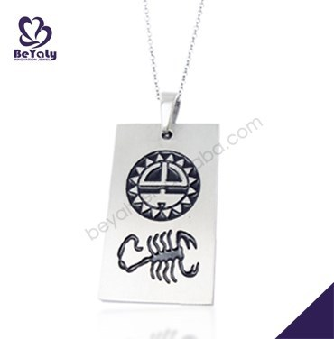 fashion jewelry gifts for best friends personalized stainless steel wholesale zodiac charms