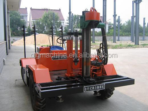 Four Wheel Type hydraulic roller static cone penetrometers/cpt cone penetration