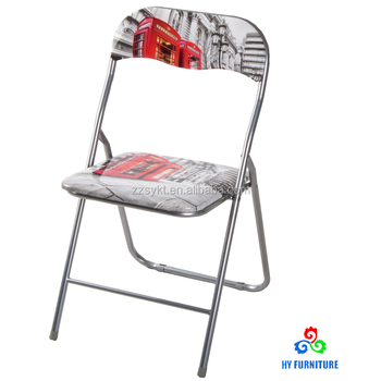 customized metal folding padded seat dining chairs wholesale buy