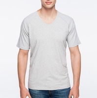 Slim T Shirt Wholesale Cheap Factory Price Bulk V-Neck T Shirt From China