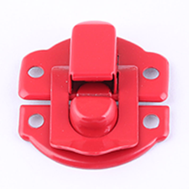 Factory colorful small metal jewelry box lock latch hardware for wooden box