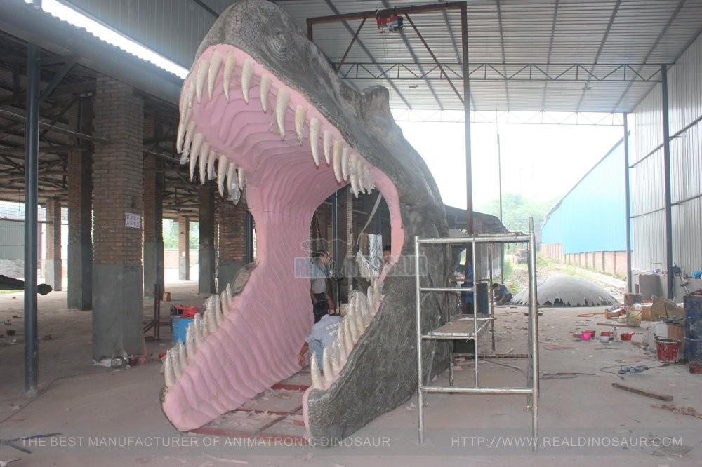 Outdoor dinosaurus gate t rex dinosaurus hoofd entree decoratie