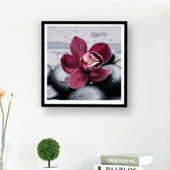 Red Flower Canvas Wall Art 5d Diy Diamond Painting Buy 5d Diy
