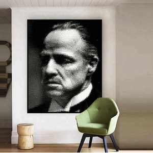 Home Decor Customized Art Print on Canvas Famous Movie Star Picture