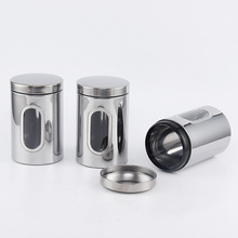 5 Inch Stainless Steel Food Canister Set for kitchen