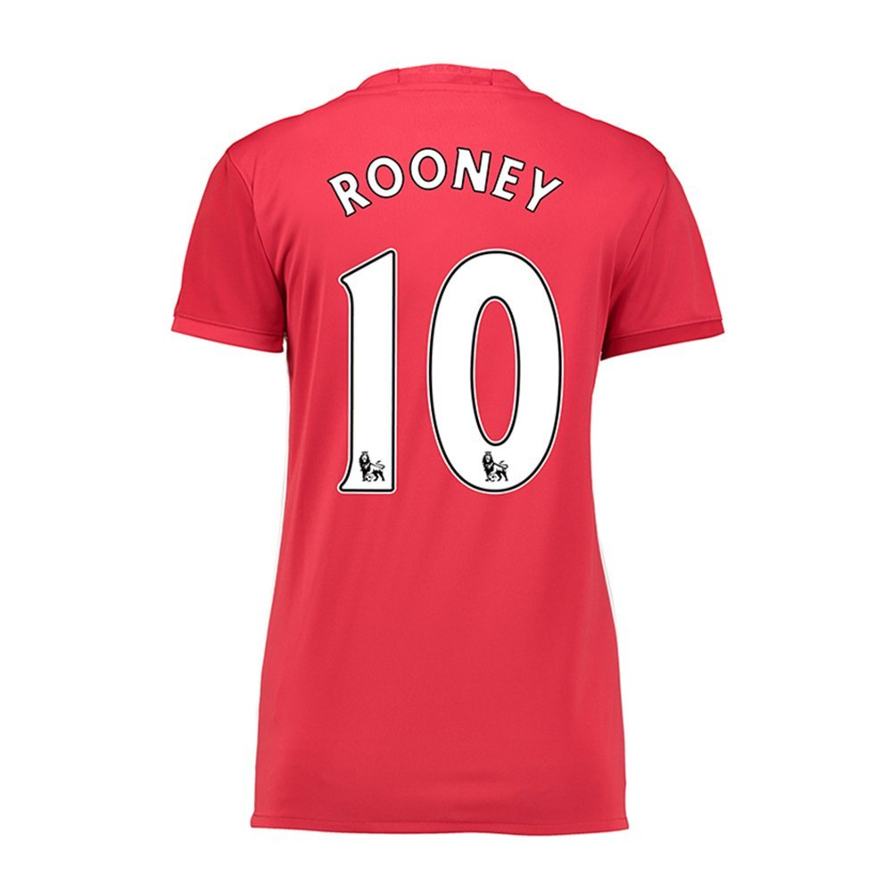 0e0870881b3 Get Quotations · 2016/2017 Manchester United Rooney #10 Home Womens Adult  Football Jersey
