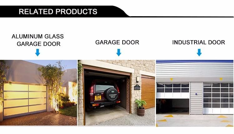 Aluminium Garage Door With Pedestrian Door Transparent