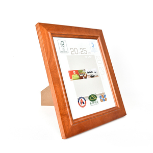 B&C ART Wholesale In Stock Natural Red Wood 8X10 Inch Photo Frame Family Frame Picture Holder For Wedding Pictures