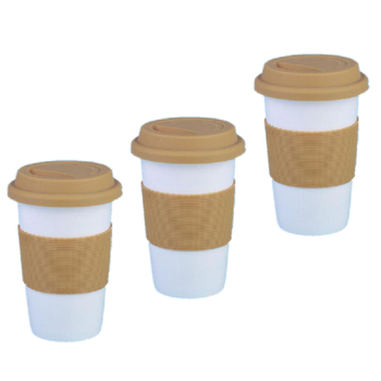 Mug With Silicone Lid And Handle Ceramic Coffee Base