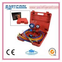 Aluminum AC Refrigeration Manifold Gauge Set R134a R12 R410a R404A Air Conditioner R410a Manifold Gauge