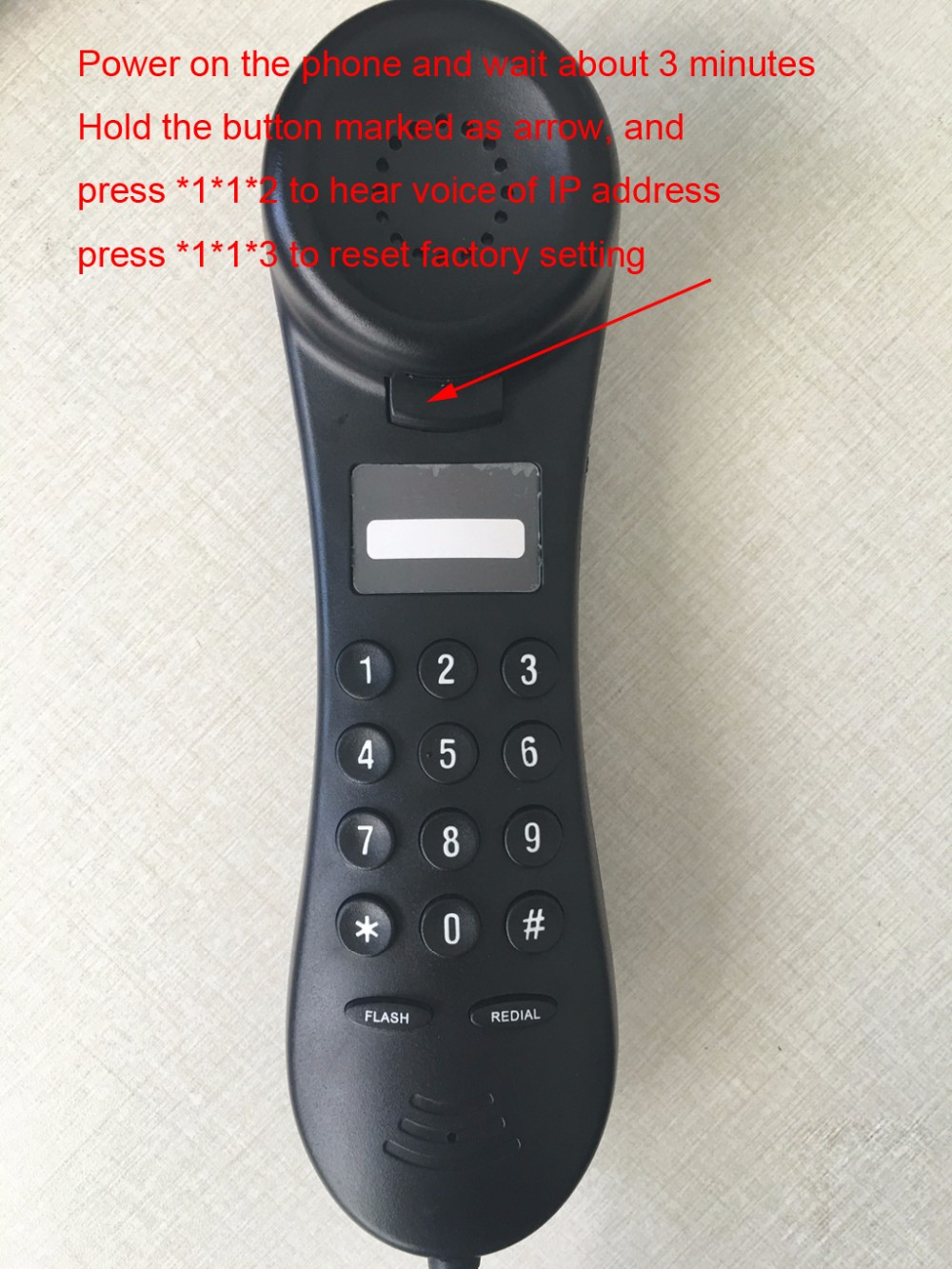 1 Line PoE SIP Phone, SLIM Hotel IP Phone with Beautiful Design, Support 1 SIP accounts