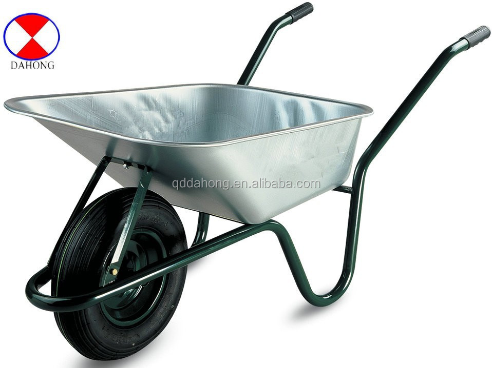 europ market 80L galvanized tray wheel barrow,single wheelbarrow