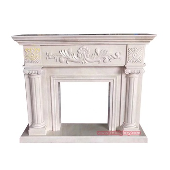 Hot sale stone carved products marble fireplace Mantel