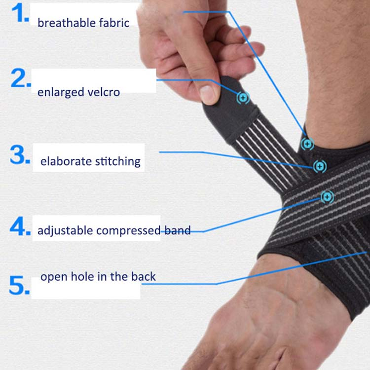 High quality sport use elastic belt adjustable flexible compression foot leg support sleeve ankle brace for adult