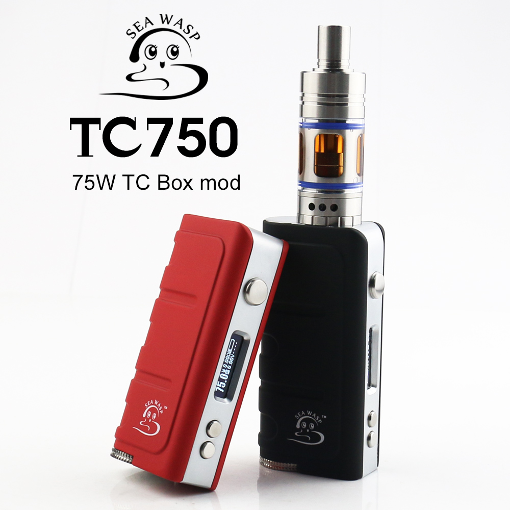 China supplier temperature control vapor cigarette TC750 box mod KSD 75w box mod vapor mist electronic cigarette