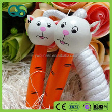 lovey animal wooden handle bearing jump rope