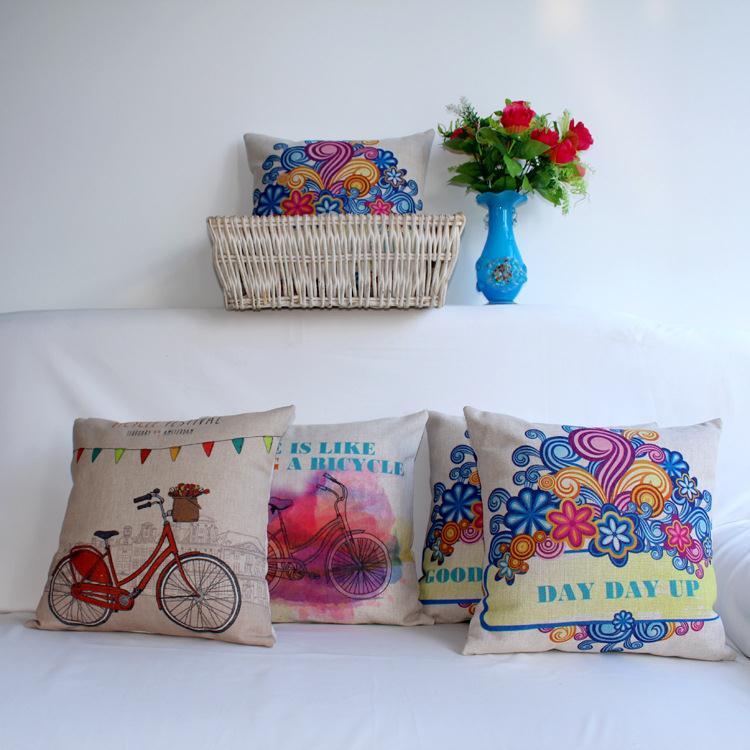 Free Shipping Retro good good study Linen Fabric Office Sofa Pillow Hot Sale New Home Fashion Christmas Decor 45cm Car Cushion