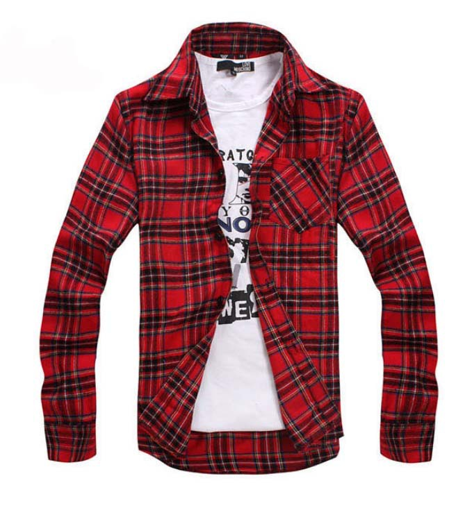 Mens black and red shirt south park t shirts for Where to buy cheap plaid shirts