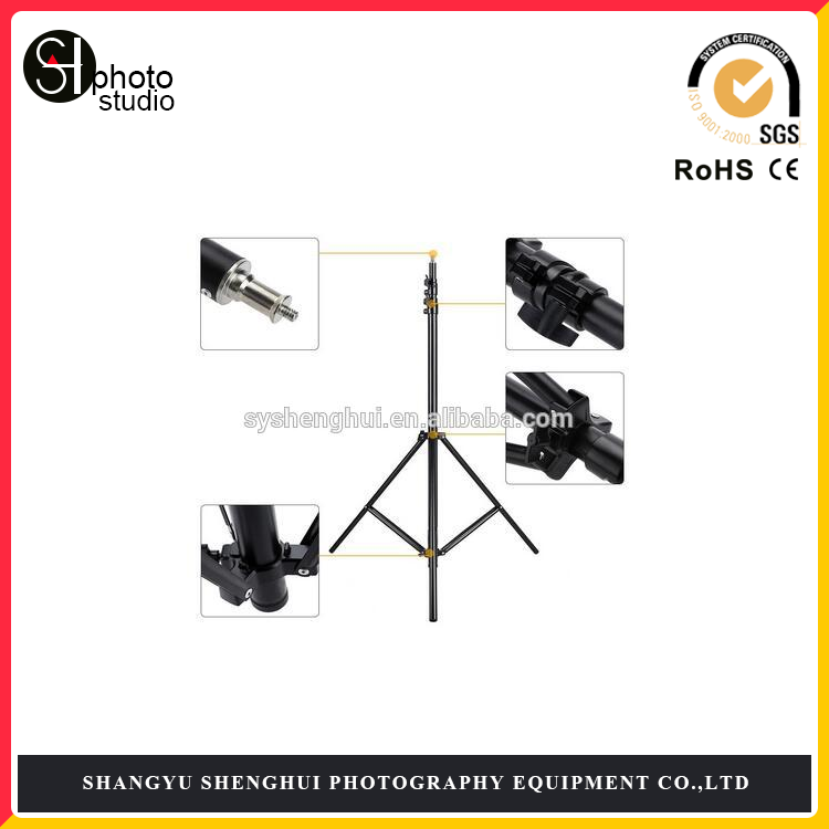 "2.8m / 9.2ft Photo Studio Light Stand with 1/4"" Screw for Video Portrait Studio Soft Box Product Photography"
