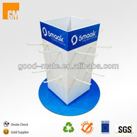 Customized Cardboard Rotating Peg Hook Counter Display