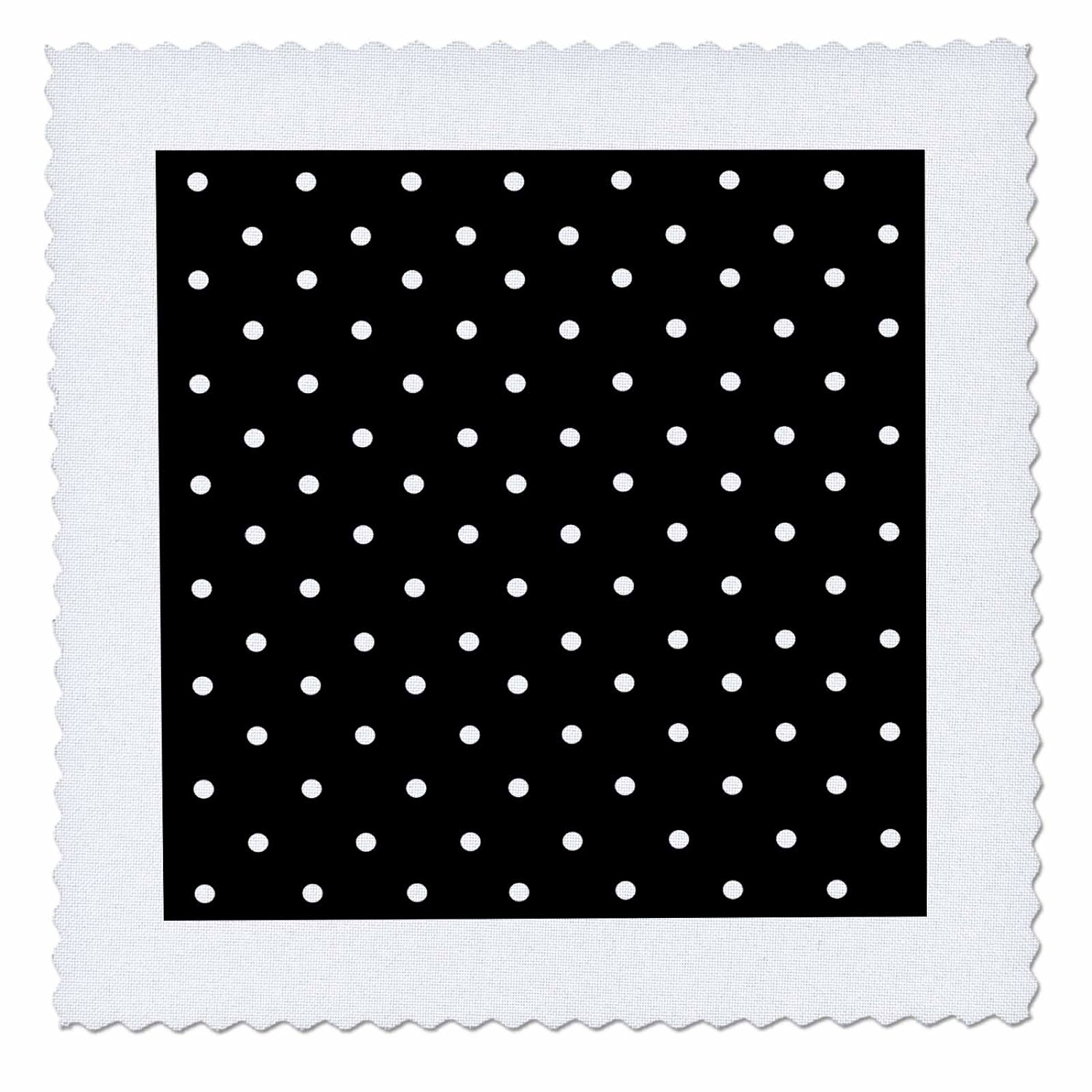 InspirationzStore Polka Dot Designs - Black and white polka dot pattern - small dots - stylish classic - classy elegant retro dotty spotty - 14x14 inch quilt square (qs_120245_5)