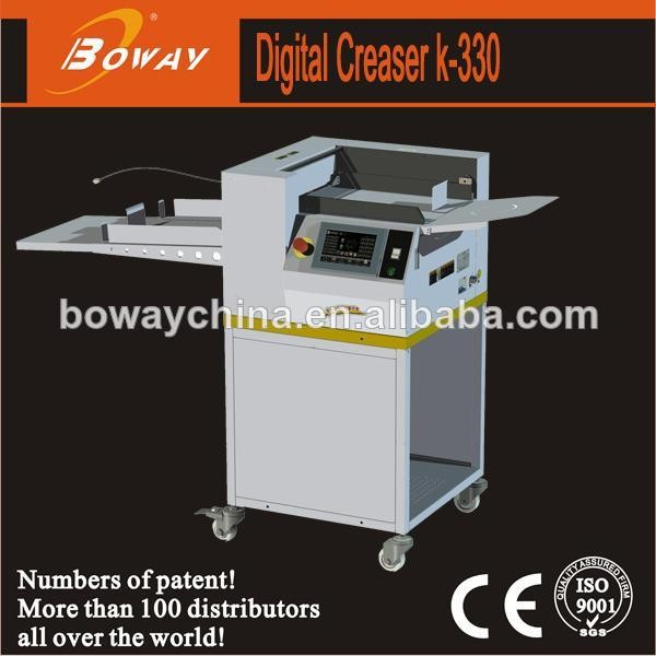 19 year Hangzhou HUPU Boway K330C automatic paper machine creasing