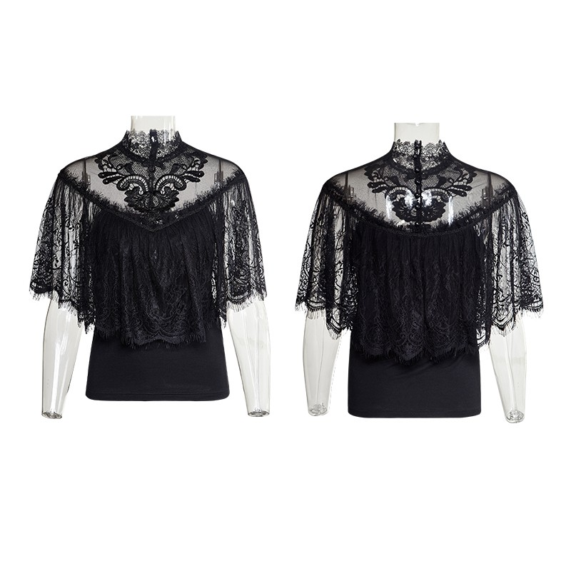 T-455 Christmas gorgeous floral pattern sleevelss light lace shirts