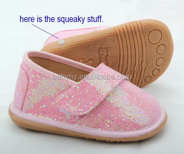 Girls leather shoe new squeaky children shoes