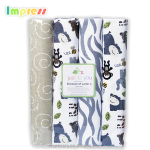 Wholesale receiving blanket newborn baby breathable cotton infant baby flannel swaddle blankets sale