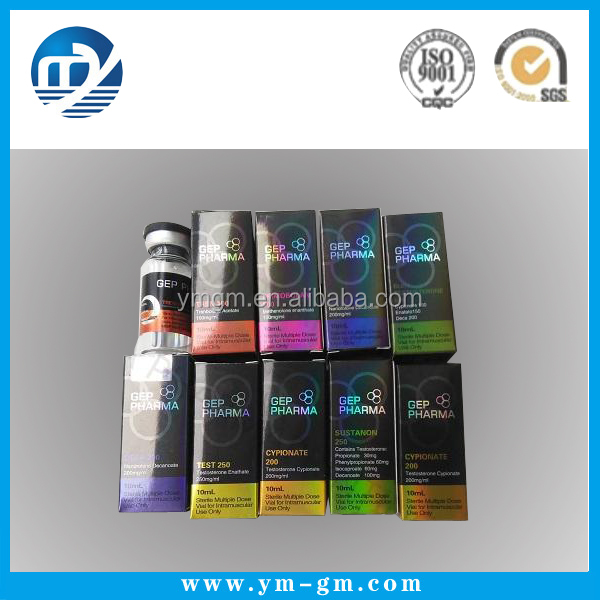 5ml , 10ml , 20ml hologram pharmaceutical adhesive vial private label and vial box