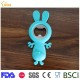 Cute rabbit beer bottle opener silicone wedding gift kitchen tool